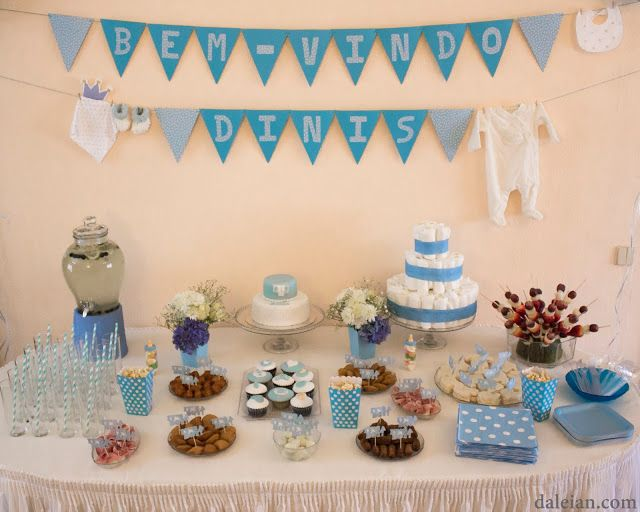 Baby Shower ideas. Plan a blue and white themed shower for a baby boy.