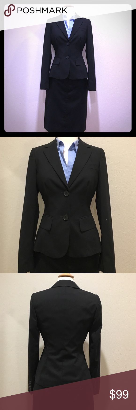 """United Color vest and skirt Wore once for my tough job interview. Dry clean. This set  was my lucky charm. I got the job and very happy . Unfortunately it doesn't fit me anymore. Lining. Vest shoulder across 15"""", bust across 17"""". Waist 13""""1/2. 22""""1/2 long. Skirt waist across 14""""1/2. Bottom 17""""1/2. 21"""" long United Colors Of Benetton Jackets & Coats Vests"""