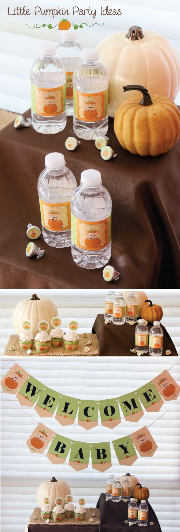 Little Pumpkin Baby Shower Ideas for Fall from BigDotOfHappiness.com
