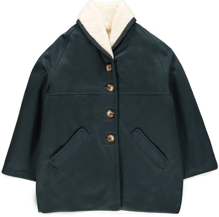 Bonton Moka Fur Lined Coat
