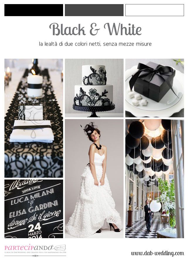 An inspiration moodboard about Black & White wedding! #dabwedding