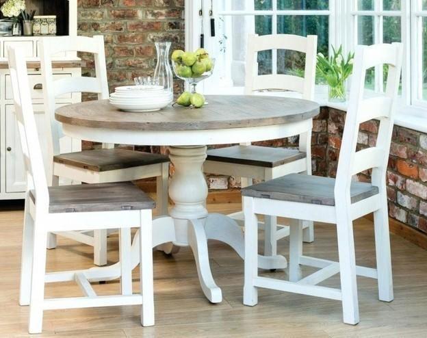 10 Farmhouse Dining Table For Any Homey Design Small Round Kitchen Table Round Kitchen Table Kitchen Table Settings