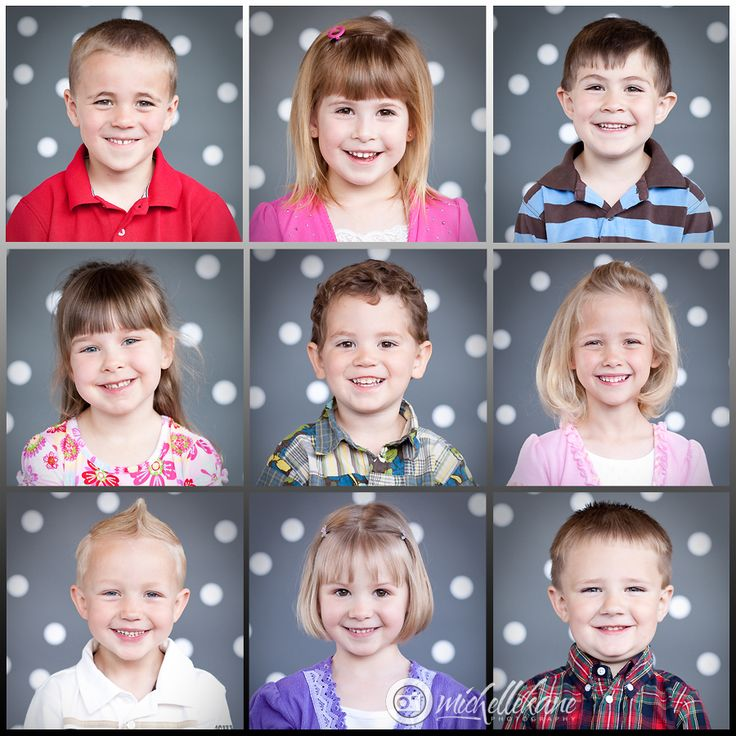 Pre-School Portraits. photo day. to rember the days you was in pre-school. Love the kids.
