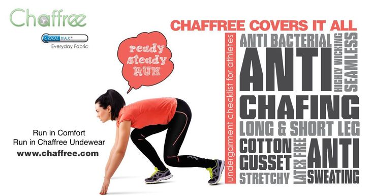 Anti Chafing underwear for runners. Try it once, remember it forever!