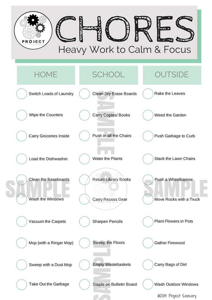 HEAVY WORK? Just like adults, children need to be able to calm their bodies and self-regulate. Not all children can do ... @projectsensory #sensoryfix