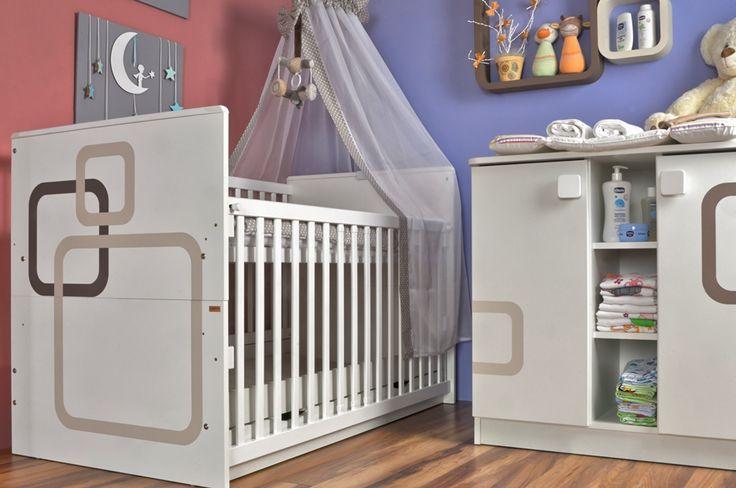 Massive and safe drop sided crib / Masszív és biztonságos babaágy leengedhető oldalráccsal