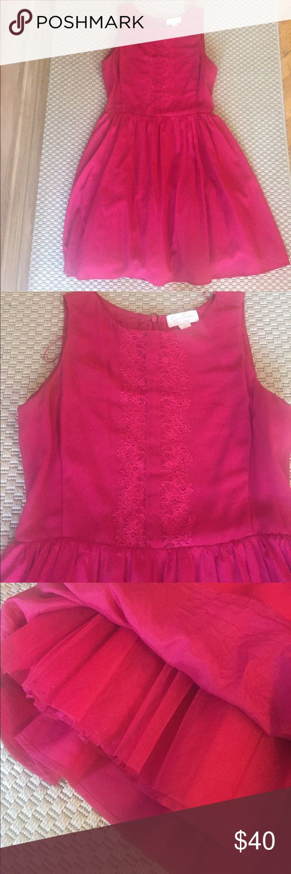 Jessica Simpson a-line dress Adorable Jessica Simpson dress that was worn only a handful of times. It has pockets, tulle underneath the skirt for tiny bit of extra volume and beautiful lace detail Jessica Simpson Dresses