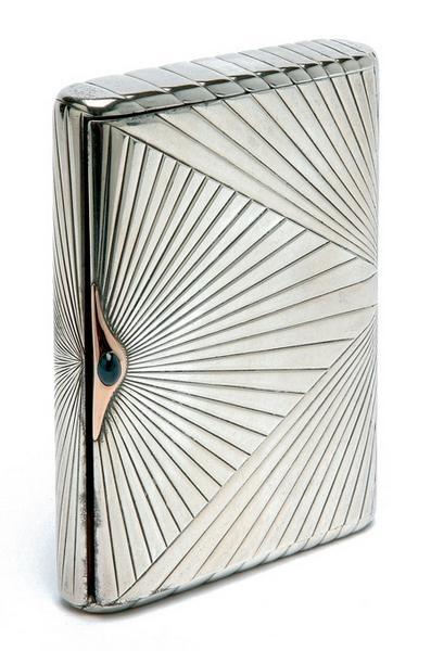 #Antique #vintage Russian silver cigarette #case