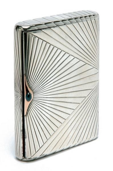 russian silver cigarette case. Very much like one my father used