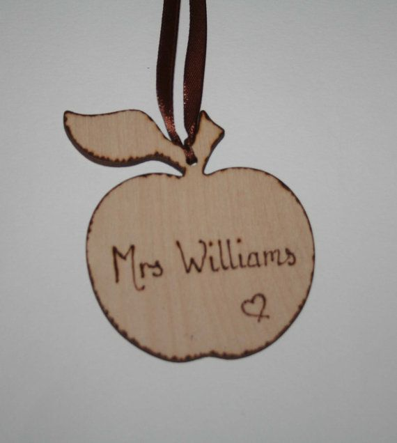 Apple Hanging Decoration Personalised Teacher by Melysweddings, £3.50