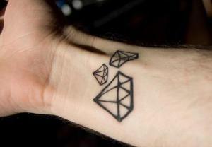 Quelles est la signification des tatouages de diamants