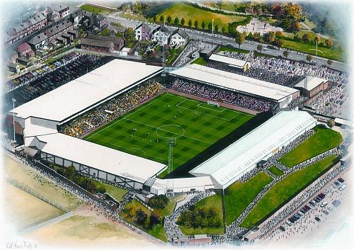 Vale Park in Art, home of Port Vale F.C. Great gifts @ sportsstadiaart.co.uk.....