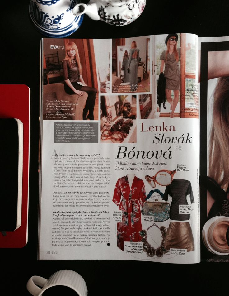Me and my closet - talking about local fashion and jewellery designers. EVA magazine, december 2013.