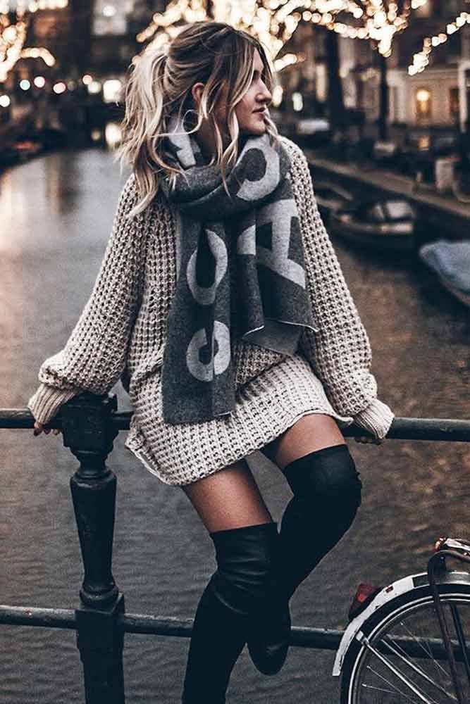 79f69f4ef78 18 Inspiring Ideas How To Rock A Sweater Dress On Daily Basis ...
