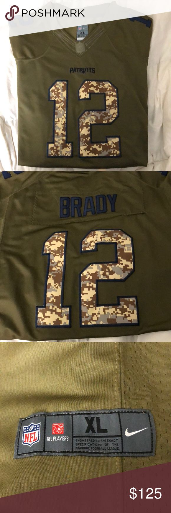 New England Patriots Salute to Service Jersey New England Patriots Salute to Service Jersey   Tom Brady 12   NWT   Men's XL   Reasonable offers welcome 😊 Nike Shirts