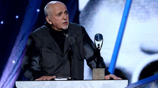 Peter Gabriel inducted into the Rock and Roll Hall of Fame.