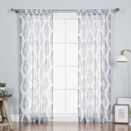 Upgrade The Look Of Your Windows With Our Fresh White Sheer Faux Pippin  Linen Window Panel