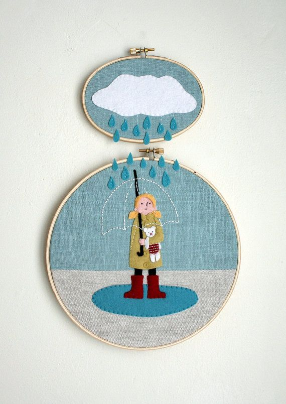 Clever and adorable embroidery art from @LittlePinkHouse on Etsy