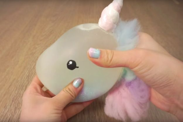 And lastly, if you're usually losing your *shit* at school, DIY a unicorn stress ball to keep tension low. | 15 Genius DIYs To Keep Your Stuff From Getting Lost At School