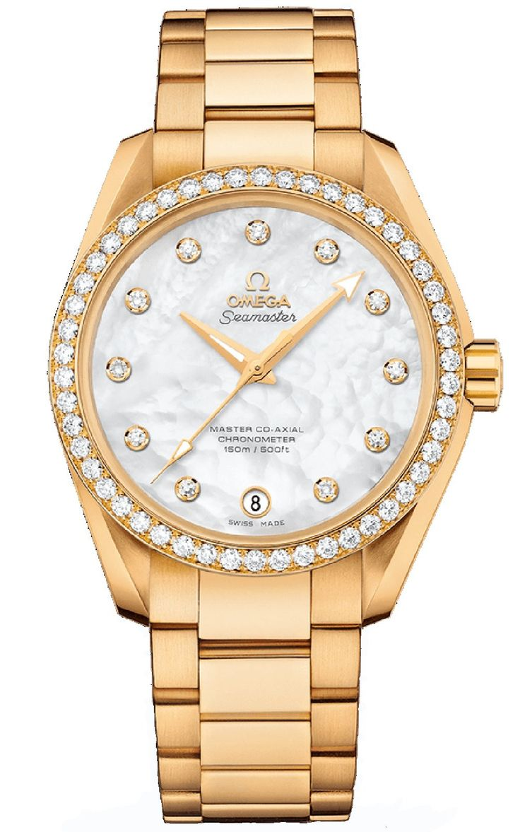 Seamaster Aqua Terra 150 M Omega Master Co-Axial Ladies Watch 231.55.39.21.55.002, 38.5mm