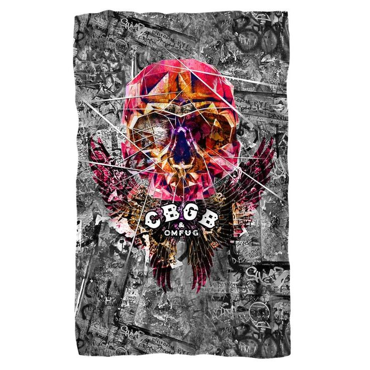 CBGB - Flying Skull Polar Fleece Blanket