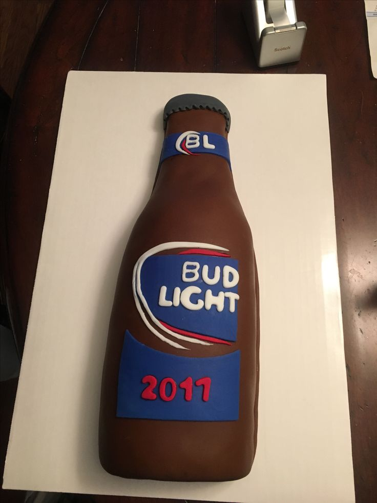 Bud Light grooms cake