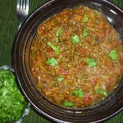Indian Eggplant - Bhurtha Recipe  We had this last night with rice and it turned out great!