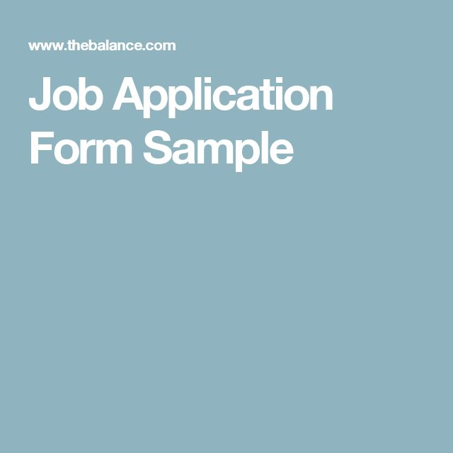 Más de 25 ideas increíbles sobre Application form en Pinterest - sample employment application form