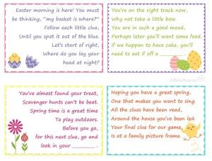 12 best easter fun images on pinterest scavenger hunts easter easter scavenger hunt clues for kids easter basket gifts love this family fun game negle Choice Image