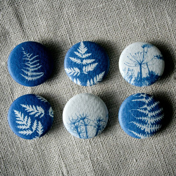 Hunt & Gather design - beautiful cyanotype brooches  Stones of different sizes would work well, even large ones!
