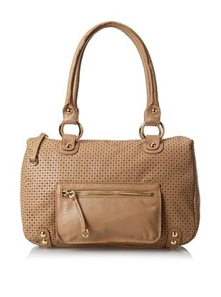 65% OFF LP by Linea Pelle Women's Dylan Perforated Speedy Satchel, Nougat, One Size