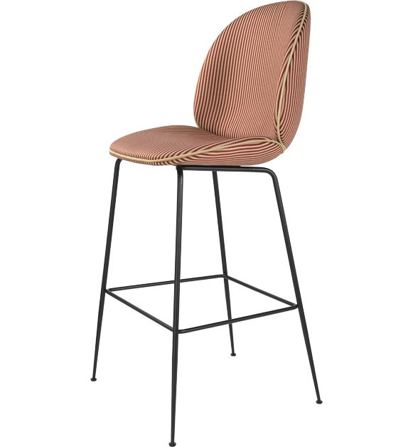 Beetle Stool fully upholstered with