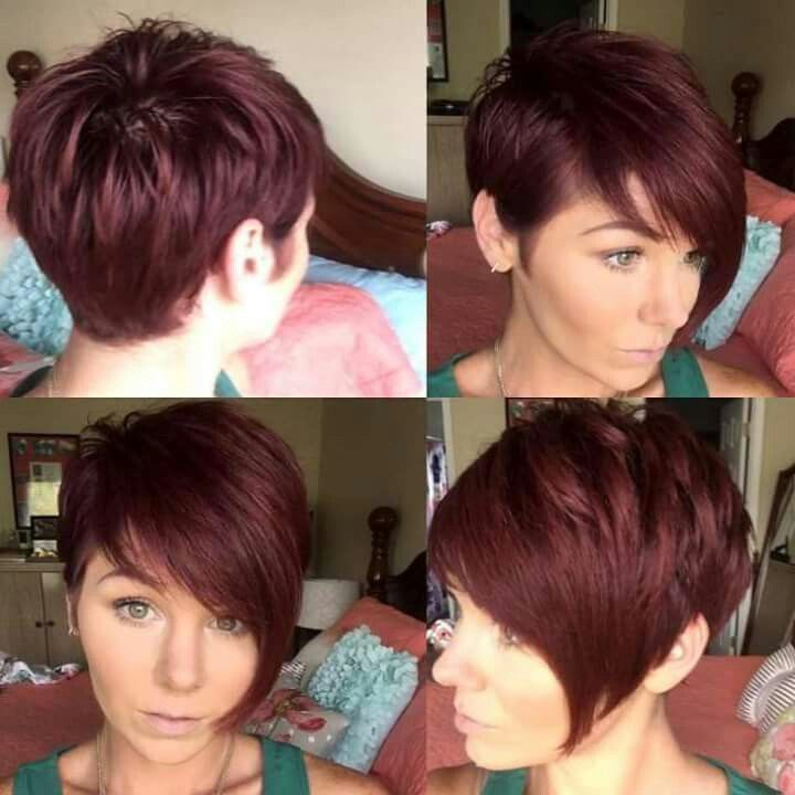 Red Pixie Cuts Short Haircuts Tunsuri Par Mediu Filat
