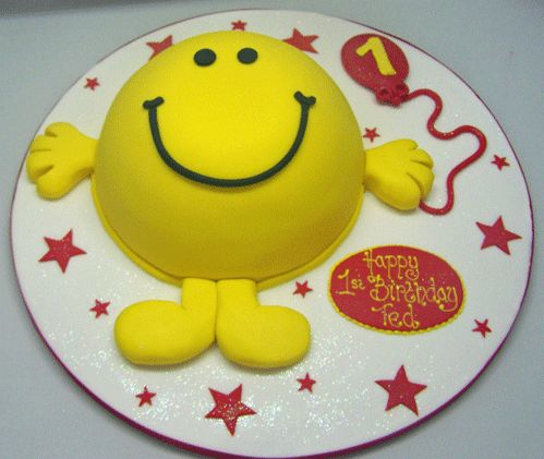 Mr Men Cake mr happy Mr Men and Little Miss cakes party kids boys girls birthday cupcake popcake cookies