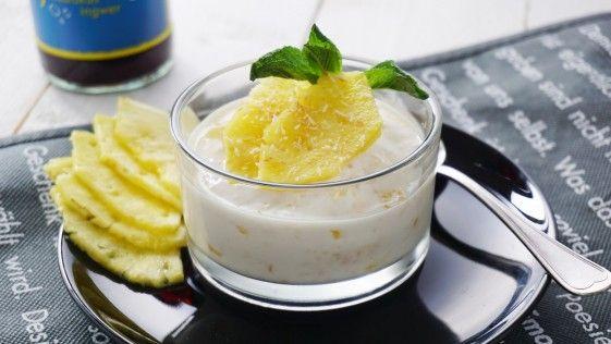 Kokoscreme mit Ananas & Rum. Fast so gut wie dein letzter Urlaub in Kuba!
