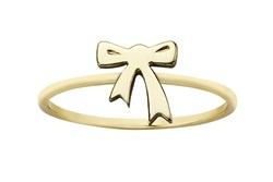 9k yellow gold Karen Walker mini bow ring from Walker and Hall Jeweller - Walker & Hall