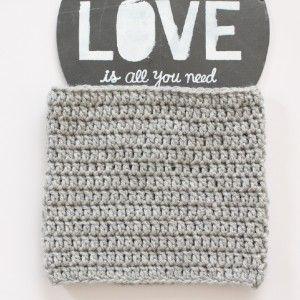 Snood au crochet gris www.ateliernat.com Catalogue et sur mesure