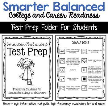 SBAC Student Folder for Test Preparation