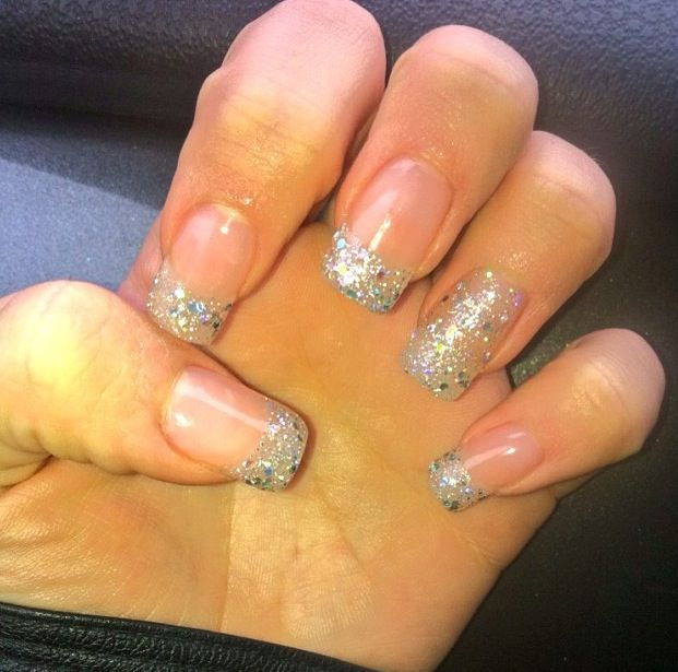 sparkly nails.