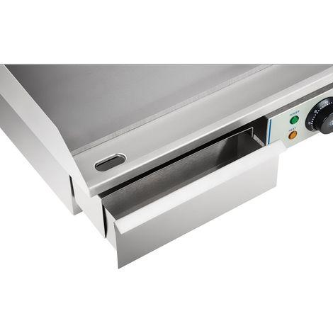 Plancha électrique lisse - 55cm - 1 x 3.0kW acier inox professionnel