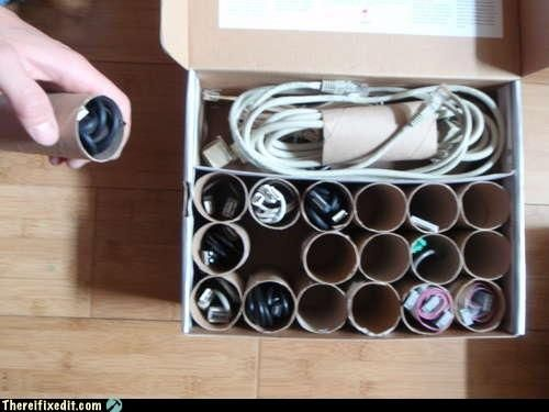 organize random cords you find around the house.