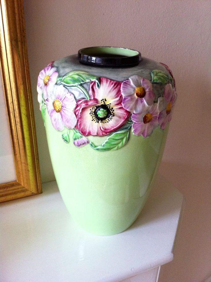 Carlton Ware Poppy & Daisy Large Vase c1940