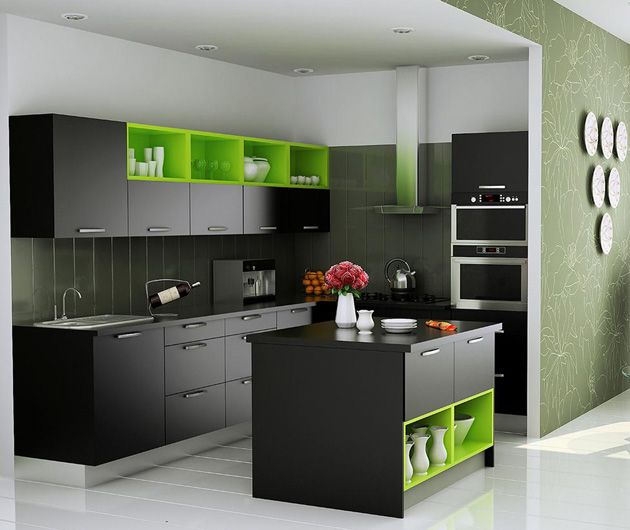 1000 images about open kitchen on pinterest simple for Kitchen cabinets india