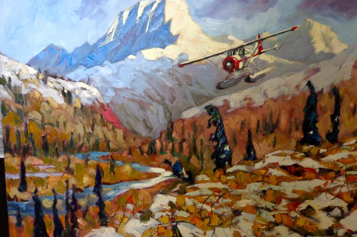 'Getting In' a float plane delivering supplies to the Peel River.