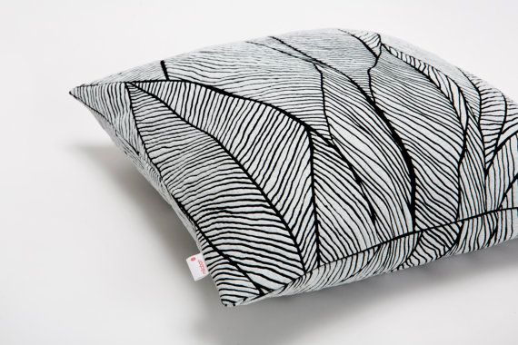 Pinion pillow is an elegant, decorative object for your sofa, printed with a nature inspired pattern designed by Mika Barr. The unique fabric breaks delicately according to its pattern. Exciting color palette creates a powerful mix of texture and hue.  Size: 45x45 cm / 17.7x17.7 inch  Color: black - white  Also available in additional colors.  Materials: Printed polymer on cotton.  ***This listing does not include the insert*** Available inserts: Microfibre or Down  The item is ready to ...