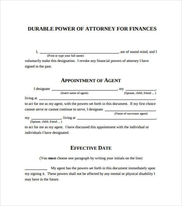 This is a picture of Printable Durable Power of Attorney Form pertaining to document power
