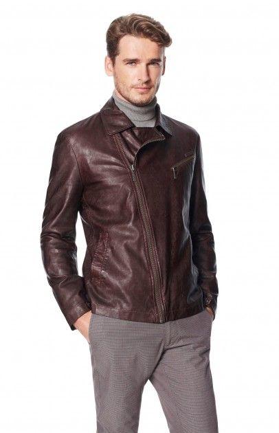 Eco-Leather Jacket - coats  jackets | Adolfo Dominguez shop online
