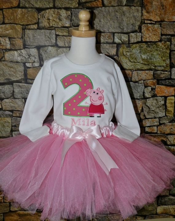 Personalized Peppa Pig Shirt or Bodysuit with matching tutu