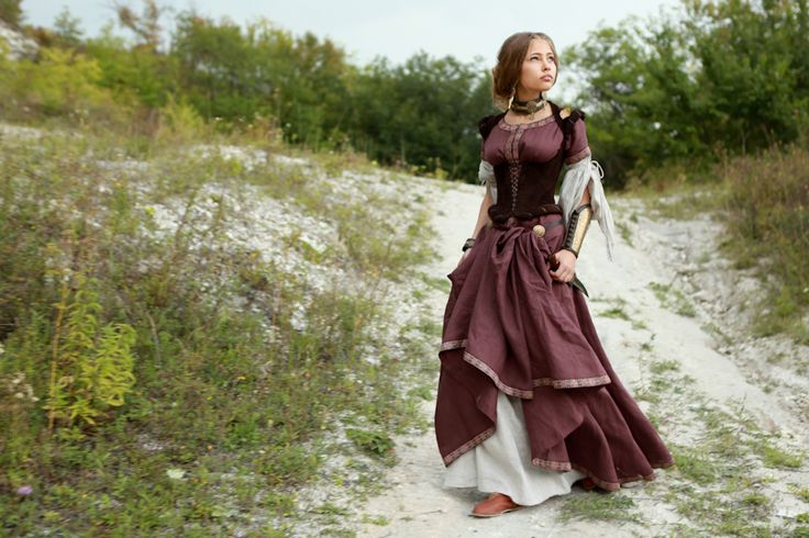 """Archeress"" Dress - medieval dress renaissance clothing"
