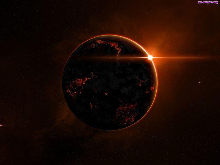 Ziemia, Słońca, Zachód, Planeta